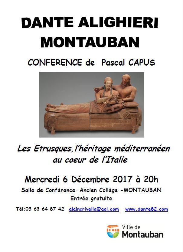 Conférence de Pascal Capus Les Etrusques